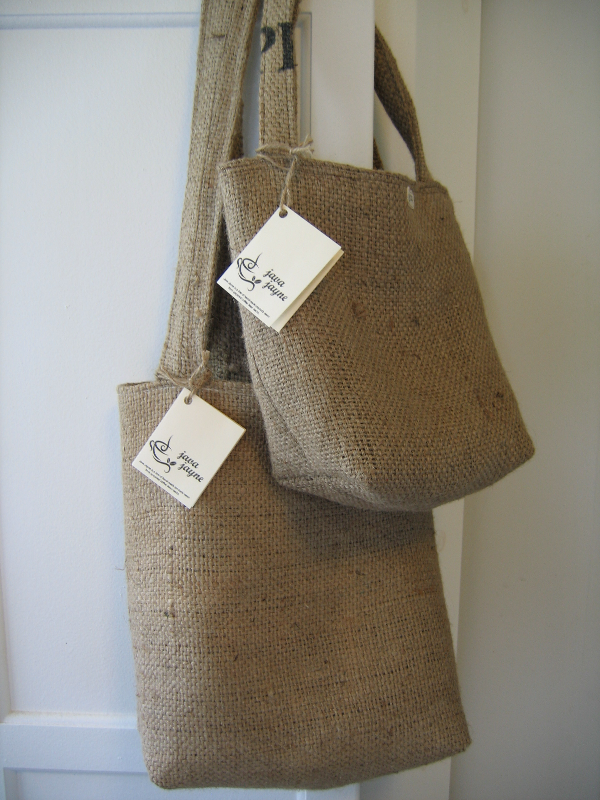 192898cdfb Shoulder Tote made from recycled buralp coffee sack